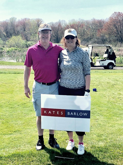 Attorney Brian Heneghan and Ellen Snyder from Kates and Barlow at Abber Charitable Foundation