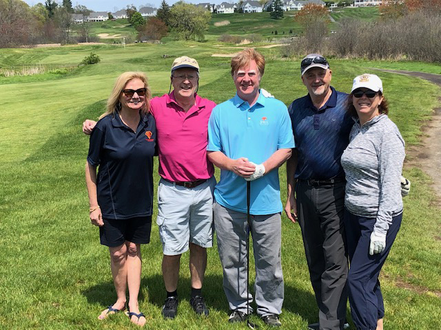 Kates and Barlow team at the Abber foundation golf tournament